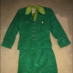 Vintage Tweed Business Suit with Skirt